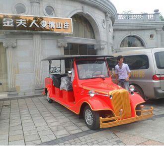 桂林【金夫人爱情山庄】成功用上朗旭电动老爷车