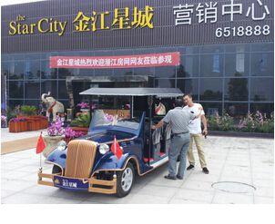 【潜江】金江星城通过网络成功订购朗逸8座电动老爷车