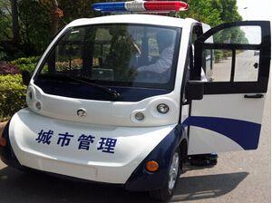 朗逸全封闭警用电动巡逻车用于(武汉)城市管理