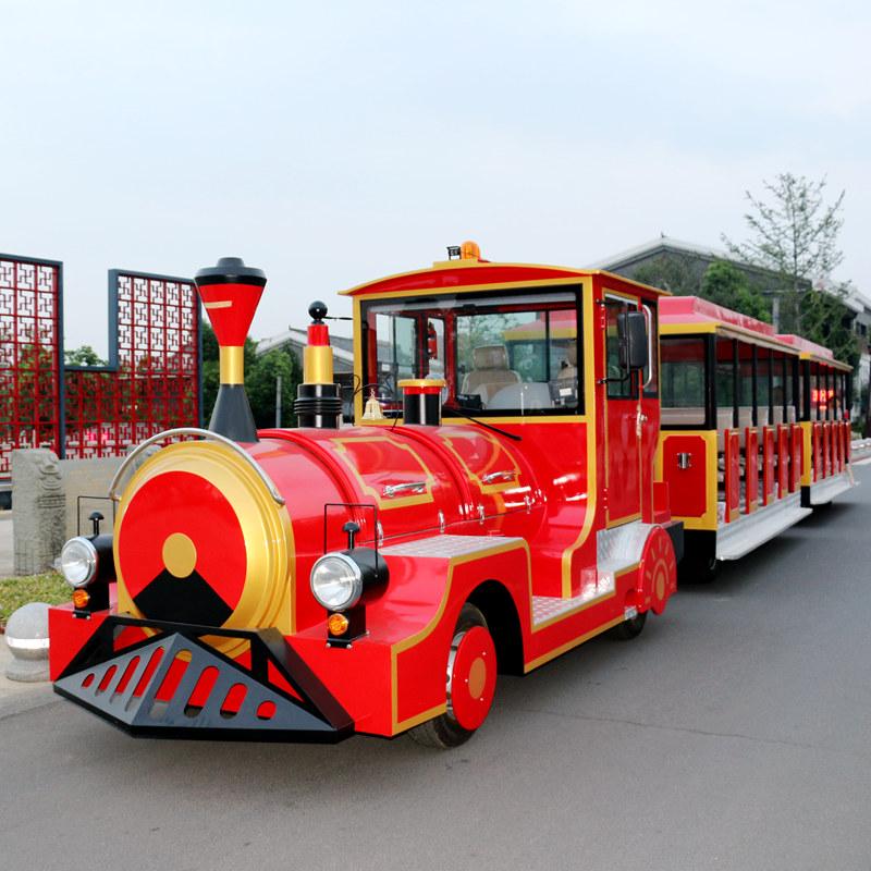 我公司观光小火车完成交付并获得了客户的高度评价