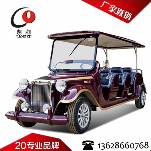(朗丰款)电动老爷车8座-枣红色+金边