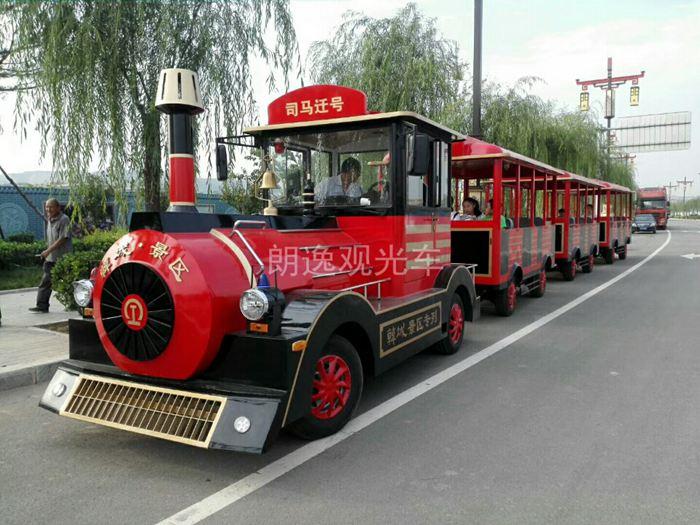 无轨观光小火车-60+2座度假区观光小火车